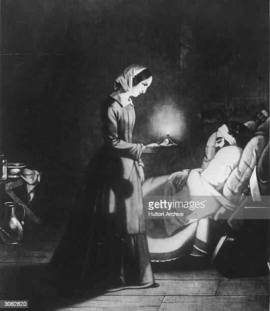 English nurse Florence Nightingale at a hospital in Scutari, Turkey.