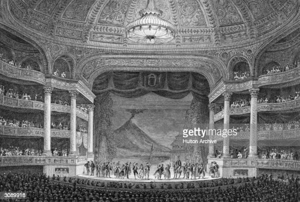 Performance at the Academie Royale de Musique in Paris, now the Paris Opera. Original Artwork: Engraving by Fenner Sears after J Nash.