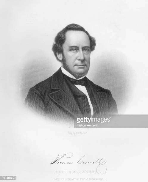 American businessman and politician Thomas Cornell founder and president of First National Bank of Rondout NY and a member of the United States...