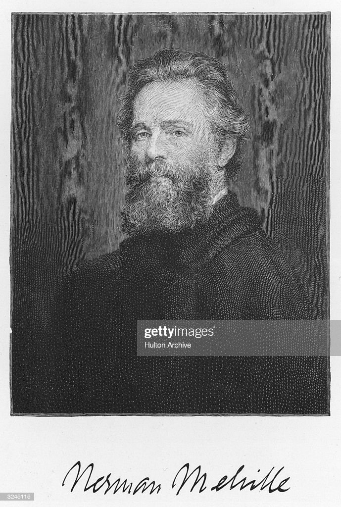 American writer Herman Melville (1819-1891), whose works include 'Typee', 1846; 'White Jacket', 1850; 'Moby Dick', 1851; 'Billy Budd'; 'Foretopman' was left unpublished at his death (published in 1924). He worked as a U.S. customs inspector at New York docks from 1866-85.