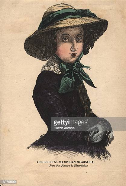 Archduchess Charlotte , daughter of Leopold I of Belgium and wife of Ferdinand-Joseph Maximilian, the puppet Emperor of Mexico. From a picture by...