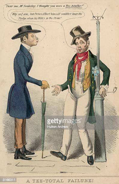 'Dear me Mr Soakclay I thought you were a teetotaller' comments a passerby to a sozzled gentleman leaning against a lamppost 'Why so I am' replies...