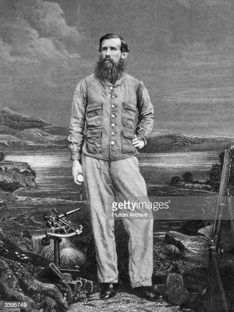 Engraving of the English explorer John Hanning Speke