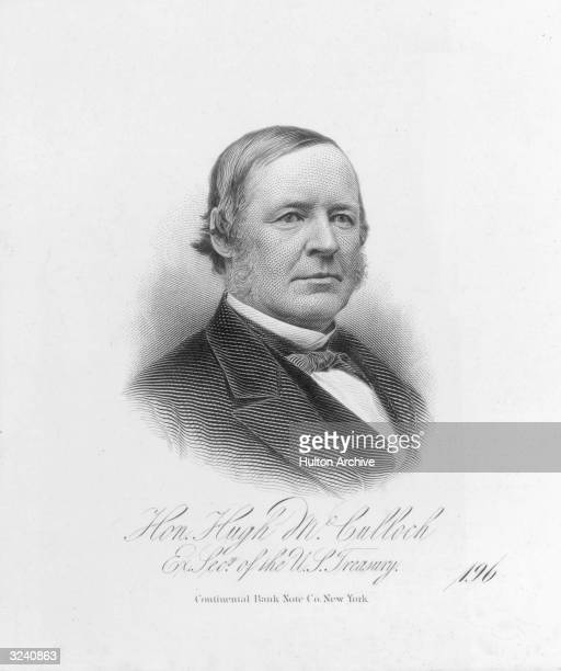 Hugh McCulloch American politician lawyer in Indiana bank official in Fort Wayne 183563 US comptroller of currency 186365 US Secretary of Treasury...