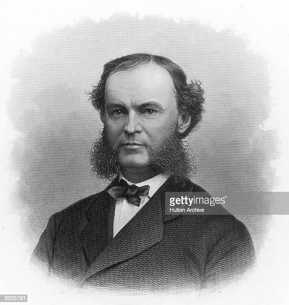 Theodore Fitz Randolph American merchant mining executive president Morris Essex Railroad Member New Jersey state senate 186263 governor of New...