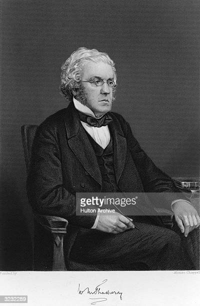 William Makepeace Thackeray English novelist and editor who authored 'Pendennis' 'Henry Esmond' and 'The Virginians' Steel engraving after a painting...