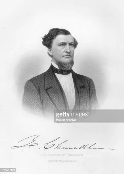 Zachariah Chandler , American politician. Mayor of Detroit, 1851-2, US senator, 1857-75, boss of Republican Michigan political machine, and secretary...