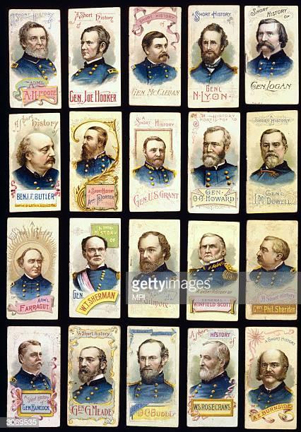 A series of covers of biographies of Union military leaders in the Civil War Admiral Andrew Hull Foote General Joe Hooker General George McClellan...