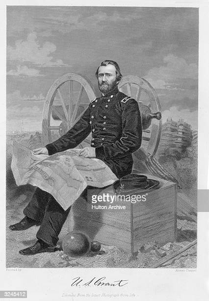 Portrait of Ulysses S. Grant , American general and 18th US president. In Civil War, at Forts Henry and Donelson Shiloh Vicksburg cmdr of all US...