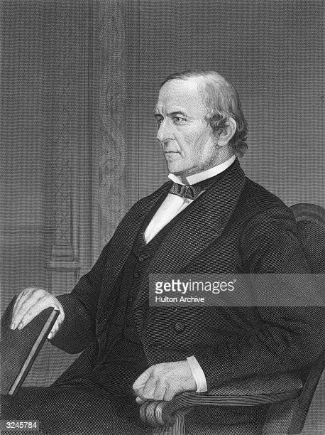 British statesman William Ewart Gladstone who became leader of the Liberal Party in 1867 and served four terms as prime minister of Britain Original...