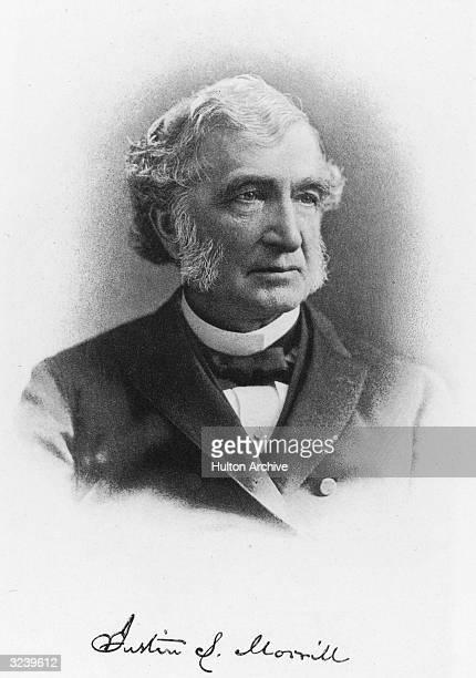 Justin Smith Morrill American politician member US House of Representatives from Vermont 185567 member US Senate 186798 authored the Morrill Tariff...
