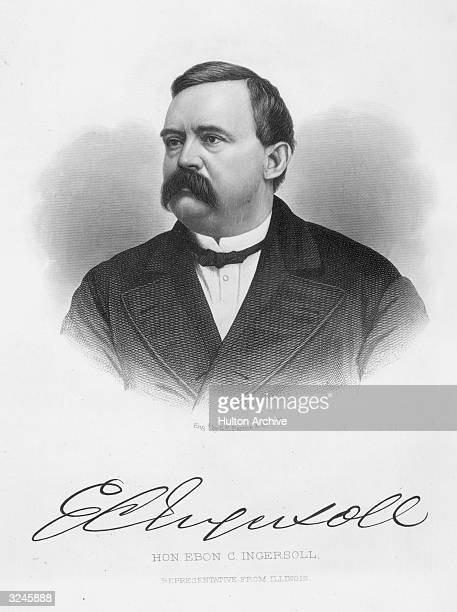 Portrait of Ebon Clark Ingersoll , American lawyer and politician. In Civil War, with Illinois Volunteers 1864, elected to US House of...