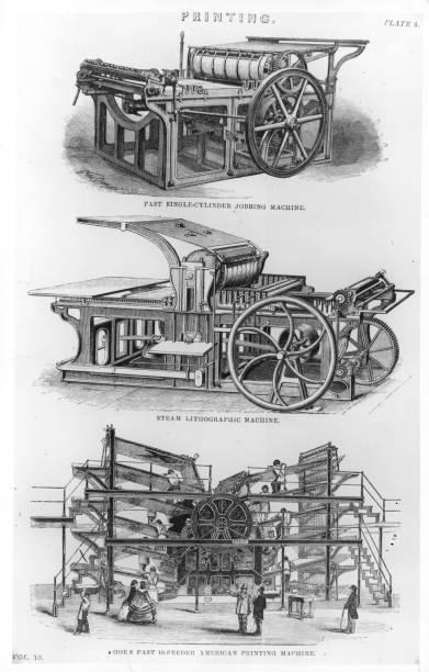 Three engravings of a fast single-cylinder Jobbing...