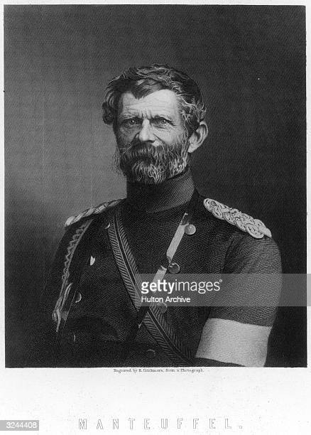 Edwin Hans Karl von Manteuffel . Prussian soldier, in Austro-Prussian War Franco-Prussian War, 1870-71, commander of the Prussian Army in the...
