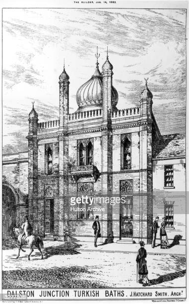 Dalston Junction Turkish Baths designed by architect J Hatchard Smith Original Publication From The Builder pub 14th January 1882