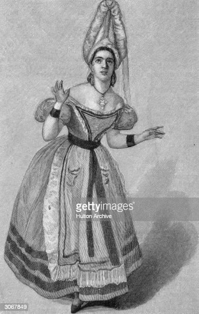 The British soprano Anna Bishop as Ninetta in Rossini's opera 'La Gazza Ladra' Drawn by M Salabert