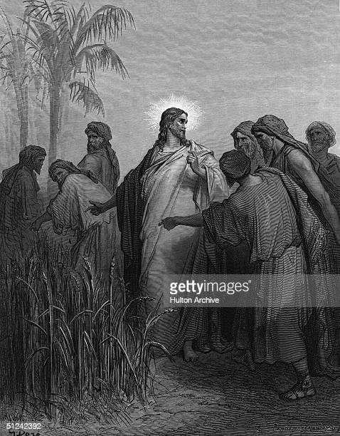 Circa 25 AD Jesus in the cornfields with his disciples