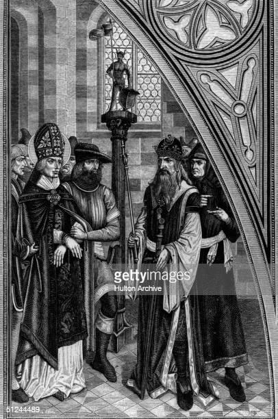 Circa 260 AD The trial of St Valentine patron saint of lovers Original Artist By Bart Zeitblom