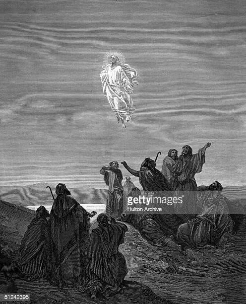 Circa 30 AD, An illustration of Jesus' Ascension by Gustave Dore.