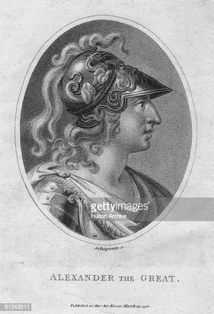 Circa 329 BC, Alexander the Great , king of Macedonia, conqueror of the Persian Empire, and one of the world's greatest military leaders. Original...