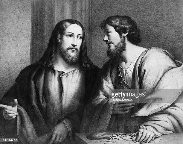 Circa 33 AD Jesus calls Matthew a taxman to follow him and become a disciple Matthew chapter 9 verse 9 Original Publication From a painting by...