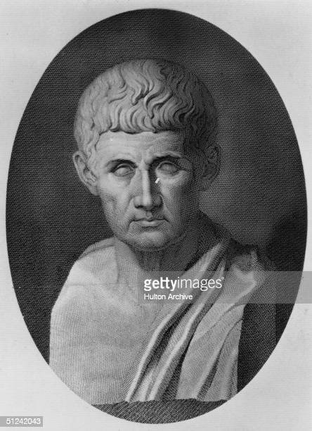 Circa 330 BC, A bust of Aristotle , an early Greek philosopher and scientist.