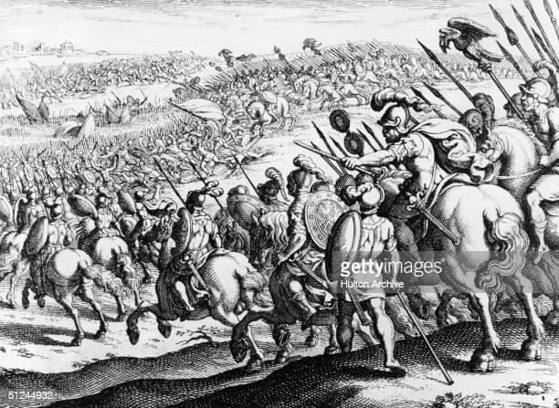 Circa 334 BC, Alexander the Great's first major victory over the Persians at Granicus. .