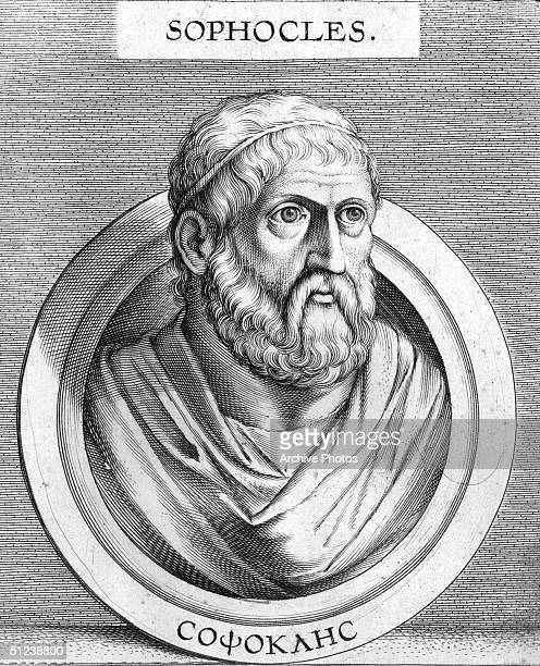 Circa 430 BC, Sophocles . Greek tragic dramatist, general, and priest. He was the author of 'Ajax', 'Antigone', 'Oedipus Rex' and 'Electra'. Original...