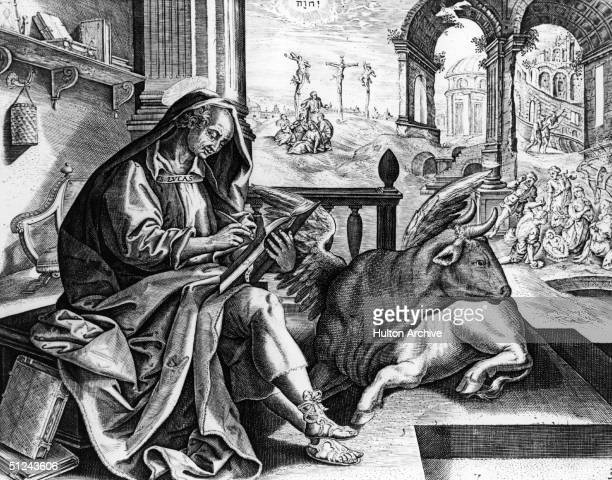 Circa 50 AD Greek physician St Luke traditionally the composer of the 3rd Gospel and the Acts of the Apostles in the New Testament He is the patron...