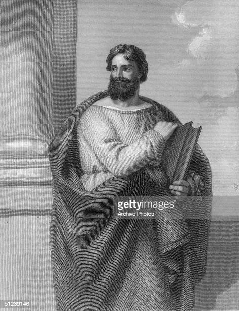 Circa 50 AD Saint Luke 1st century AD one of twelve Christian apostles physician friend of St Paul author of the third Gospel and Acts of the New...