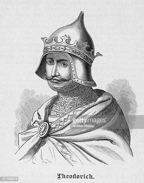 Circa 500 AD Theodoric the Great King of the Ostrogoths The sole ruler of Italy in 493 who consolidated his empire to include Sicily Dalmatia and...