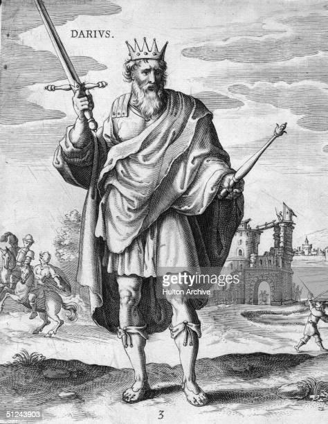 Circa 500 BC, Darius I , king of Persia, the son of Hystaspes.