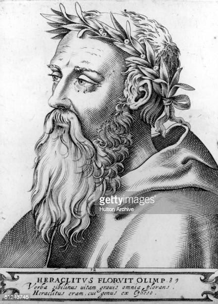 Circa 500 BC, Greek philosopher Heraclitus , who proposed that everything is in a state of flux and that fire is the principle element of matter.