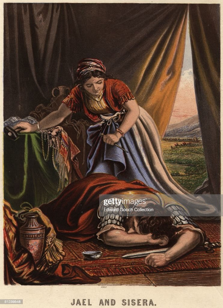 Circa 500 BC Jael wife of Heber the Kenite slays Sisera with a  sc 1 st  Getty Images & Jael Kills Sisera Pictures | Getty Images