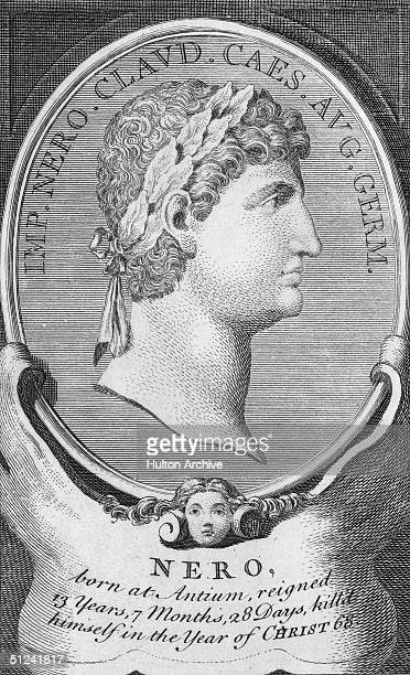 Circa 65 AD Nero the fifth Emperor of Rome Although the early years of his reign were marked by moderation a series of unsuccessful wars and scandals...