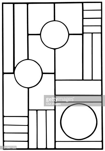 circle and square pattern - angle stock illustrations