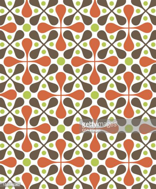 circle pattern - floral pattern stock illustrations