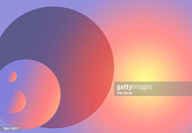 circles in space creative abstract design - geometric stock illustrations