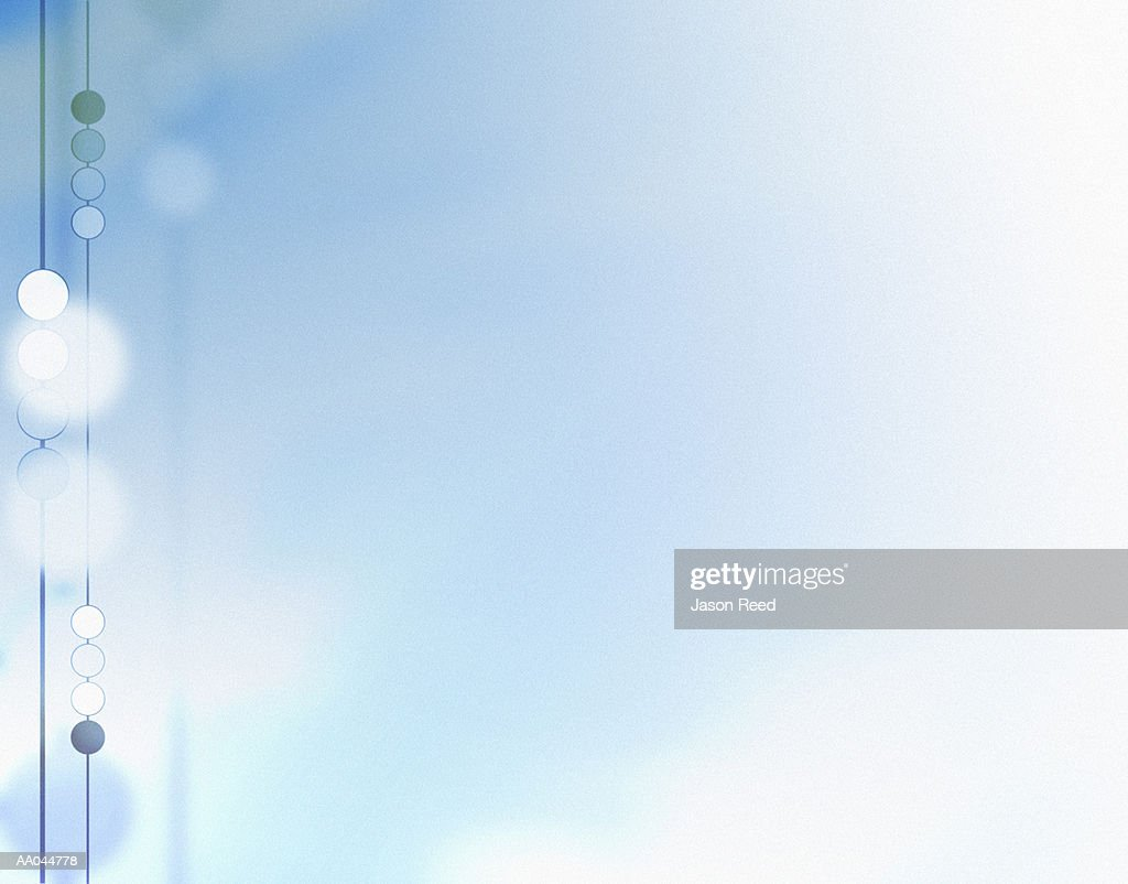 Circles on sky blue background : Stock Illustration