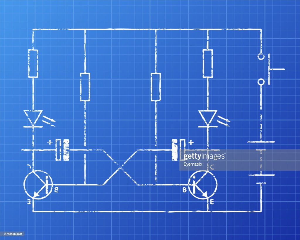 Circuit Blueprint Stock Illustration | Getty Images
