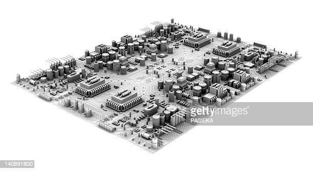 circuit board, artwork - 回路基板点のイラスト素材/クリップアート素材/マンガ素材/アイコン素材