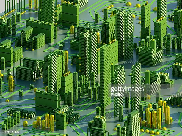 circuit city, computer artwork - led点のイラスト素材/クリップアート素材/マンガ素材/アイコン素材