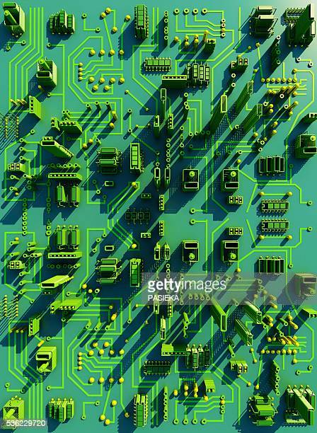 circuit city, computer artwork - computer chip stock illustrations