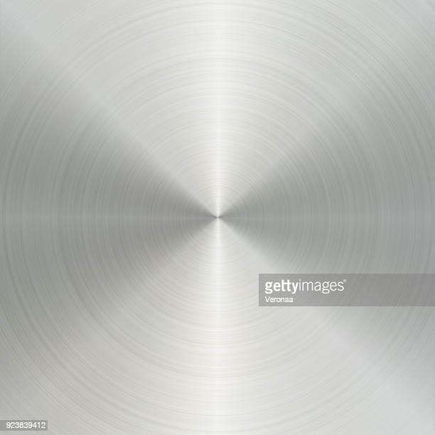 circular brushed aluminum metal texture - steel stock illustrations