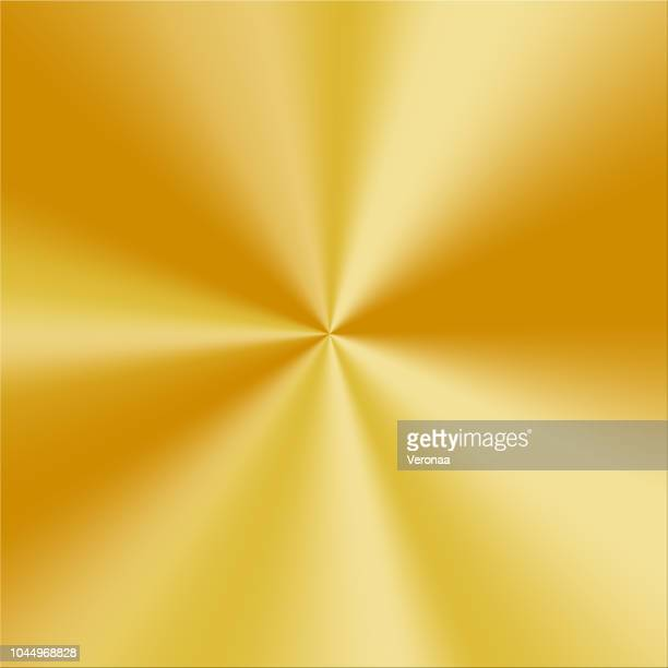 circular brushed gold texture - metal industry stock illustrations