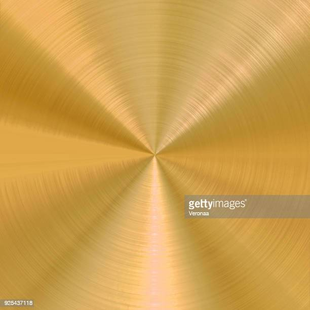 circular brushed gold vector background - metal industry stock illustrations