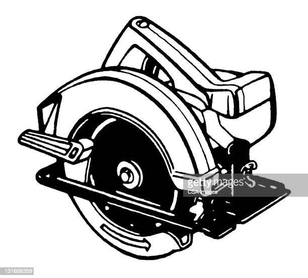 circular saw - power tool stock illustrations, clip art, cartoons, & icons