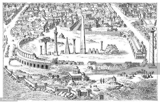 circus and hippodrome of ancient constantinople - baltimore maryland stock illustrations, clip art, cartoons, & icons