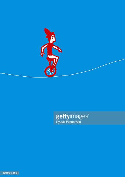 circus illustration - unicycle stock illustrations, clip art, cartoons, & icons