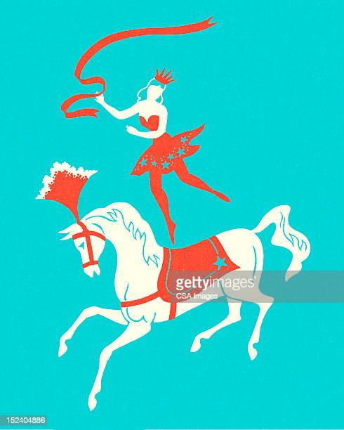 Circus Lady Riding Horse